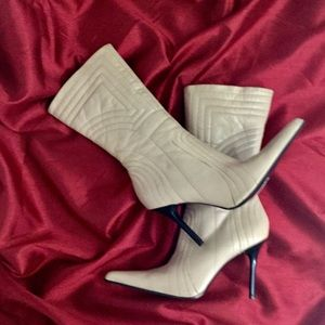 Aldo Quilted Leather High-Heeled Boots - Size 9